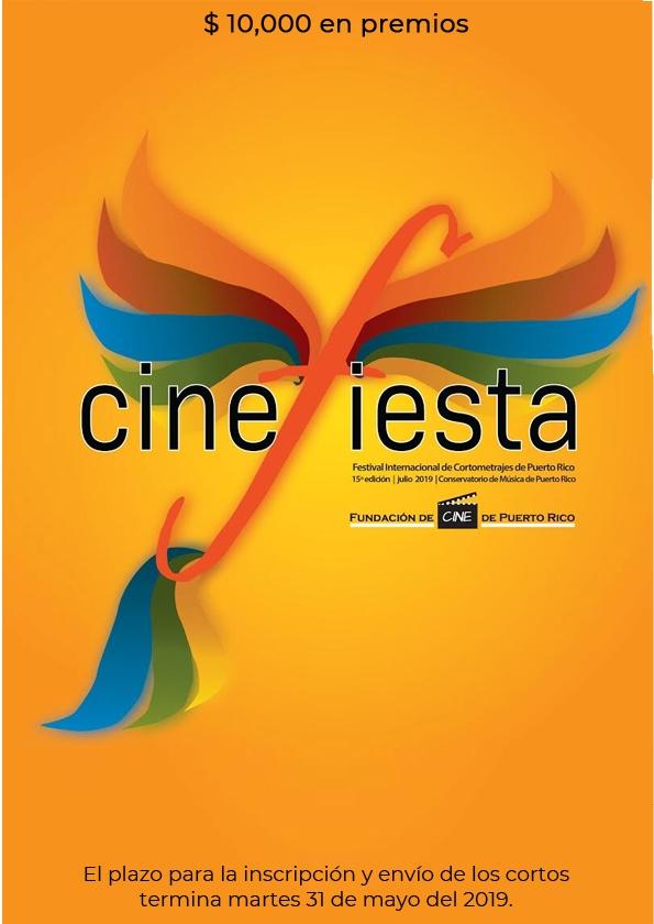 Promotional card of Cinefiesta Puerto Rico International Short Films Festival