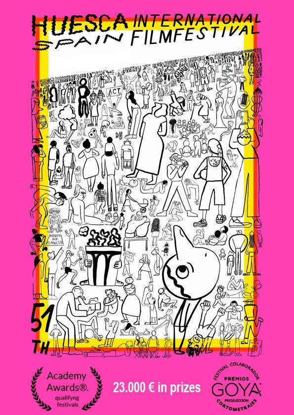 Promotional card of Huesca International Film Festival