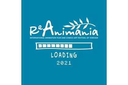 Logo of ReAnimania International Animation Film & Comics Art Festival of Yerevan