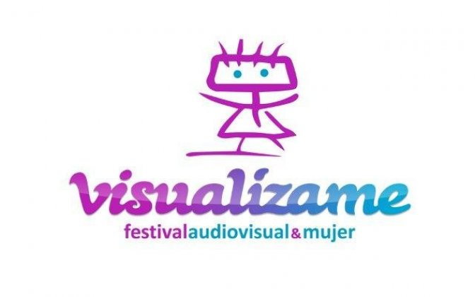 Logo of Visualízame Short Film Festival. Audiovisual&Women