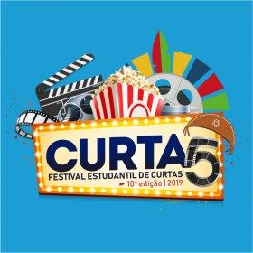 Logo of Curta 5 - festival estudantil de curtas