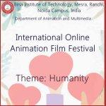 Logo of BIT Noida, India, International Online Animation Film Festival 2020