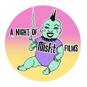 Logo of A Night of Misfit Films Film Festival