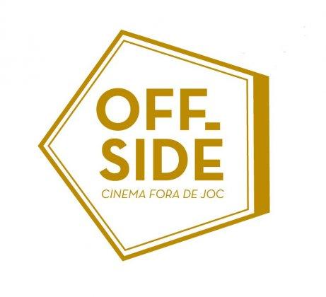 Logo of OffsideFest. Barcelona International Football Documentary Film Festival